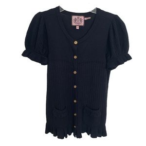 Juicy couture navy blue cardigan sweater